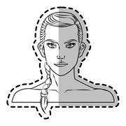 Isolated woman cartoon design Stock Illustration