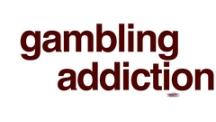 Gambling addiction animated word cloud. Stock Footage