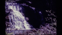 1977: the excellent view of waterfalls SAPPHIRE LAKE MONTANA Stock Footage