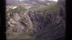 1977: the side of a mountain, with a river beneath it SAPPHIRE LAKE MONTANA Stock Footage