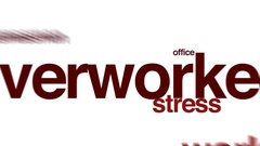 Overworked animated word cloud. Stock Footage