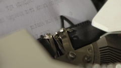 Typewriting close up footage Stock Footage
