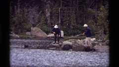 1977: holiday a boon for everyone SAPPHIRE LAKE MONTANA Stock Footage