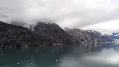 John Hopkins Glacier Pull Away - Glacier Bay National Park, Alaska Stock Footage