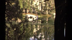 1978: creeping on someone from afar LAKE TAHOE CALIFORNIA Stock Footage