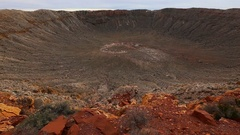 Barringer Crater near Winslow, Arizona Stock Footage