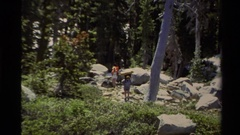 1978: hiking through nature trails LAKE TAHOE CALIFORNIA Stock Footage