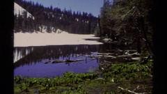 1978: a large area with lots of grass and a mountain around LAKE TAHOE Stock Footage