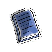 Isolated book draw Stock Illustration