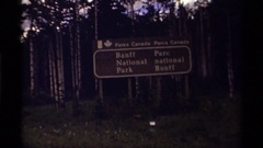 1979: sign both in english and french: banff national park CANADA Stock Footage