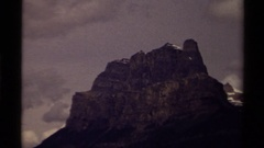 1979: a terrific mountain CANADA Stock Footage