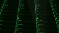 Green Drobo Network Server lights blinking - Slanted Angle Stock Footage