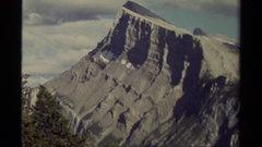 1979: highly weathered and uplifted, tilted, rock exposed cliff face, adjacent Stock Footage