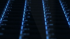 Futuristic Drobo Network Server lights blinking - Slanted Angle Stock Footage
