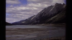 1979: creation of river from mountain BRITISH COLUMBIA CANADA Stock Footage
