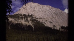 1979: a large area with lots of huge rocks in a mountain BRITISH COLUMBIA CANADA Stock Footage