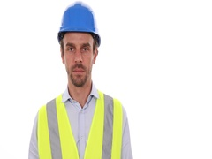 Worker Man Look Camera Show Usd Bills Cash Money Income Salary Payment Earnings Stock Footage