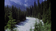 1979: image of natural setting includes trees and mountains BRITISH COLUMBIA Stock Footage