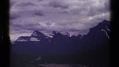 1979: a peaceful and quiet place near the valley of mountains with ice caps  Stock Footage
