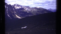 1979: excellent view of mountain BRITISH COLUMBIA CANADA Arkistovideo