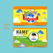 Adorable vector business card set Stock Illustration