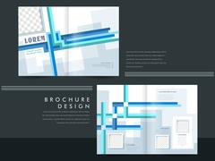 Template of brochure design with spread pages Stock Illustration