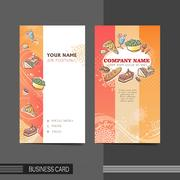 Dining modern business card template Stock Illustration