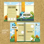 Vector concept of environmental brochure design Stock Illustration