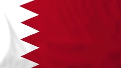 Flag of Bahrain waving in the wind, seemless loop animation Stock Footage
