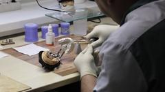 Cermet implant creature process at laboratory. Stock Footage