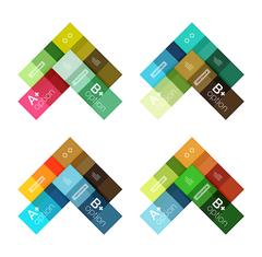 Vector color stripes infographics templates Stock Illustration