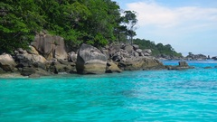 Similan Islands landscape Stock Footage