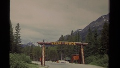 1979: a partition between two places labelled as great divide Stock Footage