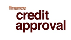 Credit approval animated word cloud. Stock Footage