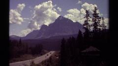 1979: beautiful view of a mountain BRITISH COLUMBIA CANADA Arkistovideo