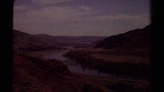 1979: river in mountains BRITISH COLUMBIA CANADA Stock Footage