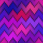 ZigZag Lines Gradient Tiling. Seamless Multicolor Pattern Stock Illustration