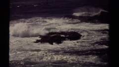 1980: nature view of the beach in a sunny day. MENDOCINO CALIFORNIA Stock Footage