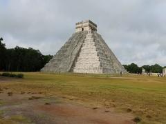 Chichen Itza Mayan pyramid El Castillo DCI 4K Stock Footage