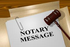 Notary Message - legal concept Stock Illustration