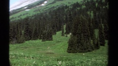 1979: the beautiful mountainous region with snow capped mountains Stock Footage