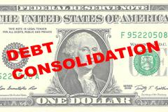 Debt Consolidation concept Piirros