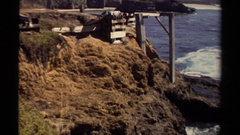 1980: seeing the beauty of nature in seashore with happiness MENDOCINO Stock Footage