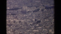 1939: view of a city from a far distance PARIS FRANCE Stock Footage