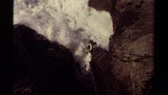 1980: white sea storm and rocks MENDOCINO CALIFORNIA Stock Footage