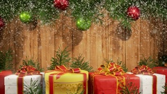 Christmas Background with Snowfall - Short Stock Footage