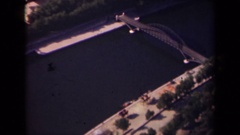 1939: a couple of bridges cover an expansive, slow river PARIS FRANCE Stock Footage