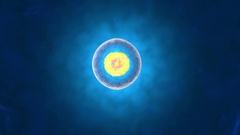 3D rendered Animation of Cell Replication Stock Footage