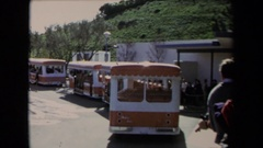 1967: people enjoy trips in bus,around nature LOS ANGELES CALIFORNIA Stock Footage