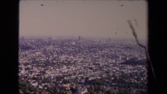 1967: short buildings fill the scene in a bustling large city LOS ANGELES Stock Footage